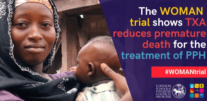 WOMAN Trial shows TXA reduces premature death for PPH patients