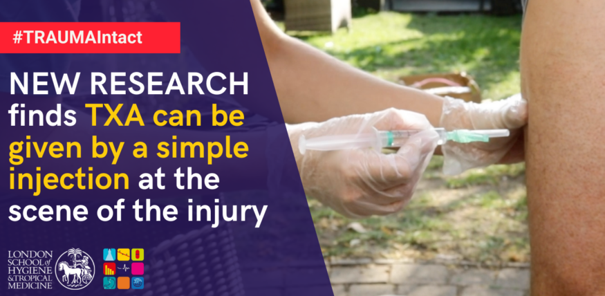 Trauma Intact Trial finds TXA can be given by a simple injection at the scene of injury