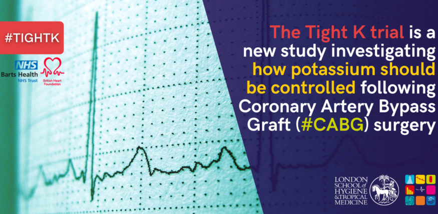 Tight K trial is a new study investigating how potassium should be controlled following Coronary Artery Bypass Graft (#CABG) surgery