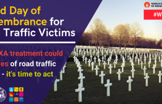 World Day of Remembrance for Road Traffic Victims: early txa treatment could save lives of road traffic victims, it's time to act